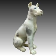 Majestic 1950's Porcelain Harlequin Great Dane Dog by Bing Grondahl ~ B&G Denmark