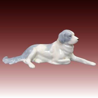 Majestic Recumbent St. Bernard Porcelain Dog Pfeffer Porzellan Gotha Germany