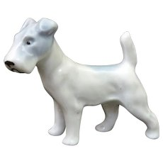 Proud & Tenacious Fox Terrier Porcelain Dog Pfeffer Porzellan Gotha Germany