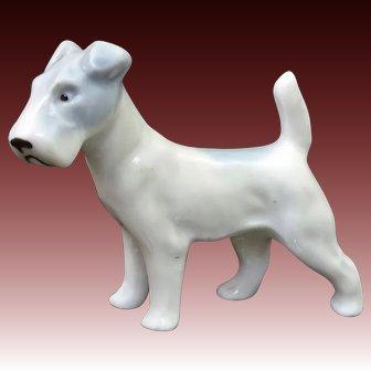 Proud & Tenacious Fox Terrier Porcelain Dog Pfeffer Porzellan Gotha Germany