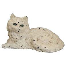 Original Hubley #1248 Cast Iron Full Body Kitty Cat Doorstop ~ Fireplace ~ Mantle ~ Hearth ~ Fireside