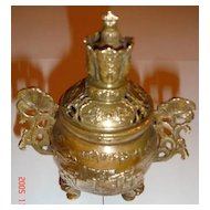 Tara Bronze Incense Burner