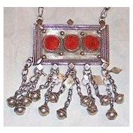 Silver Saudi Arabian Bedouin Amulet Pendant Necklace