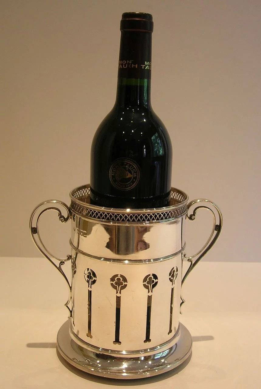 Rare Antique Solid Sterling Silver Wine Or Champagne