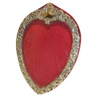 Antique English Sterling Silver Heart Shaped Photograph Frame - Edwardian