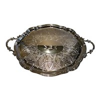 Magnificent Large Antique English Silver Plated Tray by Elkington & Co - 1892