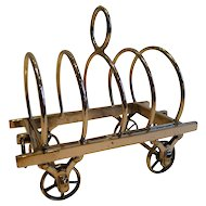 Rare Antique English Figural Toast Rack - Wagon / Caravan - Reg. 1879