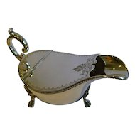 Unusual Antique English Silver Plated Spoon Warmer c,1880 - Sauce Boat Shaped
