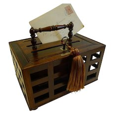 Antique English Regency Letter Box in Rosewood c.1820