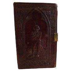 Antique Leather Cheroot Case - Napoleon, c.1830 / 1840 - Book Form