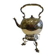 Grand Antique English Silver Plate Spirit Kettle c.1880