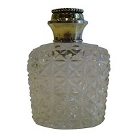 Antique Sterling Silver Topped Scent / Cologne Bottle - 1881