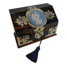 Top Quality Antique English Coromandel Writing Box c.1880