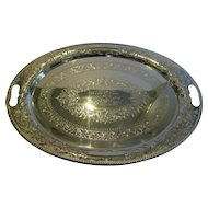 Large Antique English Pierced or Reticulated Serving Tray by J.H. Potter c.1890