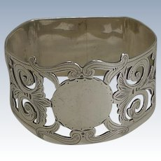Antique, English Sterling Silver Napkin Ring - 1902