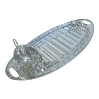 Antique English Silver Plated Asparagus Serving Dish c.1900