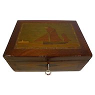 Antique English Trinity House Jewelry or Desk Box c.1860