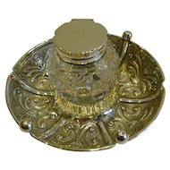 Handsome Antique English Sterling Silver Inkwell - 1906