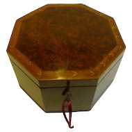 Magnificent George III Amboyna Wood Jewelry Box c.1790 by John Godwin