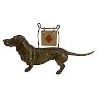 Antique English Figural Trumps Marker - Dog - Dachshund