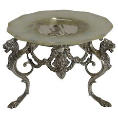 Top Quality James Dixon Silver Plate and Opaline Glass Centrepiece c.1880