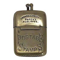 Edward J. Hauck's Vesta - Form of Postage Stamp Case