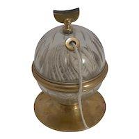 Rare Antique English Cut Glass Sting Box / Dispenser c.1890
