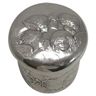 Large Victorian Sterling Silver Dressing Table Box by William Comyns - Reynold's Angels