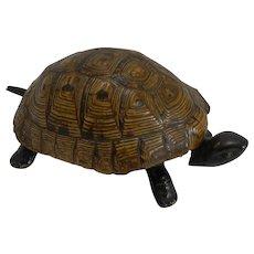 Handsome German Figural Mechanical Desk / Counter Bell - Tortoise