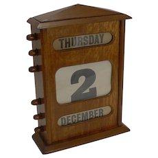 "Handsome Large (11 1/2"") Desktop Perpetual Calendar c.1900"