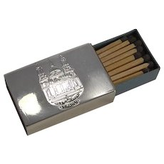 Small Antique English Sterling Silver Matchbox Cover - St. Pauls Cathedral, London, 1902