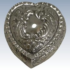 Charming Antique Heart Shaped Pill Box - 1901