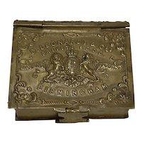 Victorian English Pen Nib Box by D. Leonardt & Co. - Form Of A Book