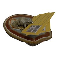 Antique English Novelty Visiting Card Holder / Receiver c.1890 - Frog