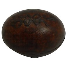 Antique English Novelty Travel Inkwell c.1890 - Rugby Ball / Football