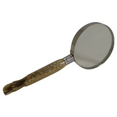 Horn and Silver Handled Magnifying Glass