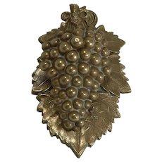 Antique English Grapevine Letter / Desk Clip - Registered 1845