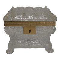 Rare Highly Cut Baccarat Jewelry Casket / Box c.1860