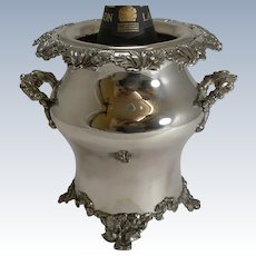 Handsome Antique English Old Sheffield Plate Wine Cooler c.1840