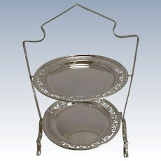 Antique English Silver Plated Cake Stand c.1900