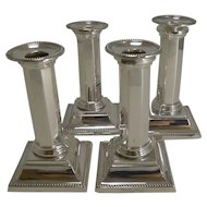 Handsome Set Four Silver Plated Candlesticks by Mappin and Webb