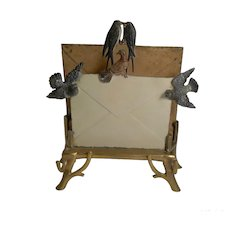 Rare Cold Painted Vienna Bronze Letter Rack or Holder c.1890