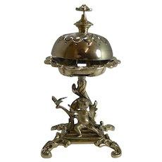 Figural Victorian Desk / Counter Bell c.1860 - Cherub