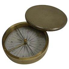 Antique English Signed Explorer Compass c.1880