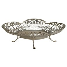 Antique English Silver Plated Basket by John Round and Sons c.1900