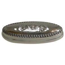 Antique English Sterling Silver Ring Box For Two Rings - 1901 - Angels