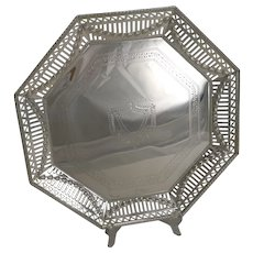 Stunning Antique English Silver Plated Salver / Tray c.1900