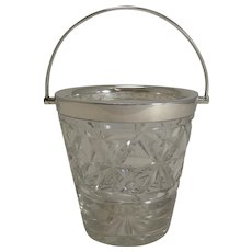 English Cut Crystal Ice Pail / Bucket by Mappin and Webb c.1920