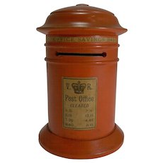 Late Victorian Painted Wood Post Office Savings Bank