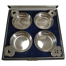 Set Four Novelty Sterling Silver Wine Tasters - Tetard Freres, Paris